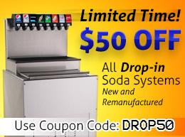 $50 OFF All Drop-In Soda Systems New & Remanufactured with Coupon Code: DROP50