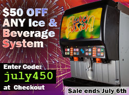 July 4th Sale: $50 OFF ANY Ice and Beverage System - Use coupon code: JULY450 at checkout