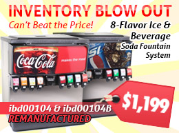 Inventory Blowout! 8 Flavor Ice and Beverage Soda Fountain Systems (remanufactured) - $1,199