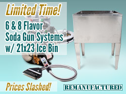 Limited Time! 6 & 8 Flavor Soda Gun Systems with 21x23 Ice Bin—Prices Slashed