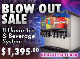 BLOW OUT SALE! 8-Flavor Ice & Beverage Soda Fountain System - $1,395.00