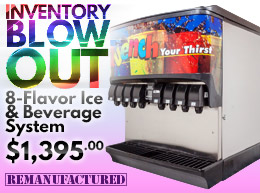 INVENTORY BLOW OUT! 8-Flavor Ice & Beverage System for $1,395 - ibd00113