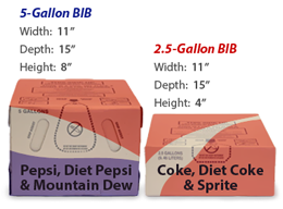 Pepsi and Coca-Cola bag-in-box syrups