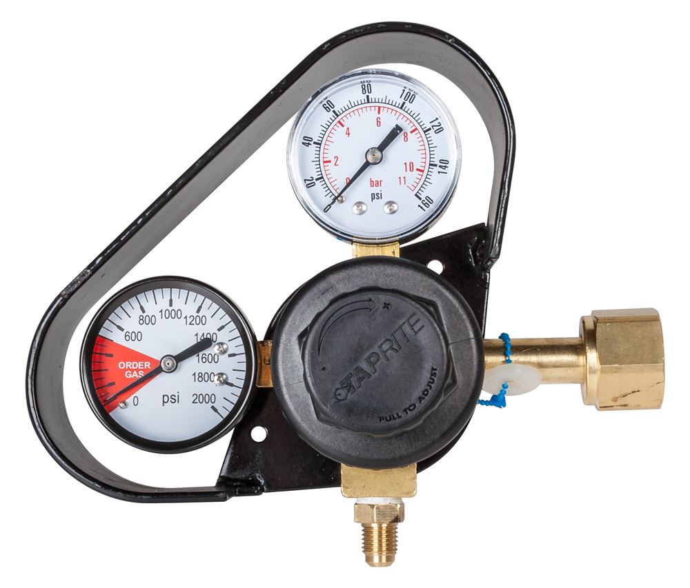 TAPRITE Dual Gauge Primary Regulator w/ Metal Gauge Guard