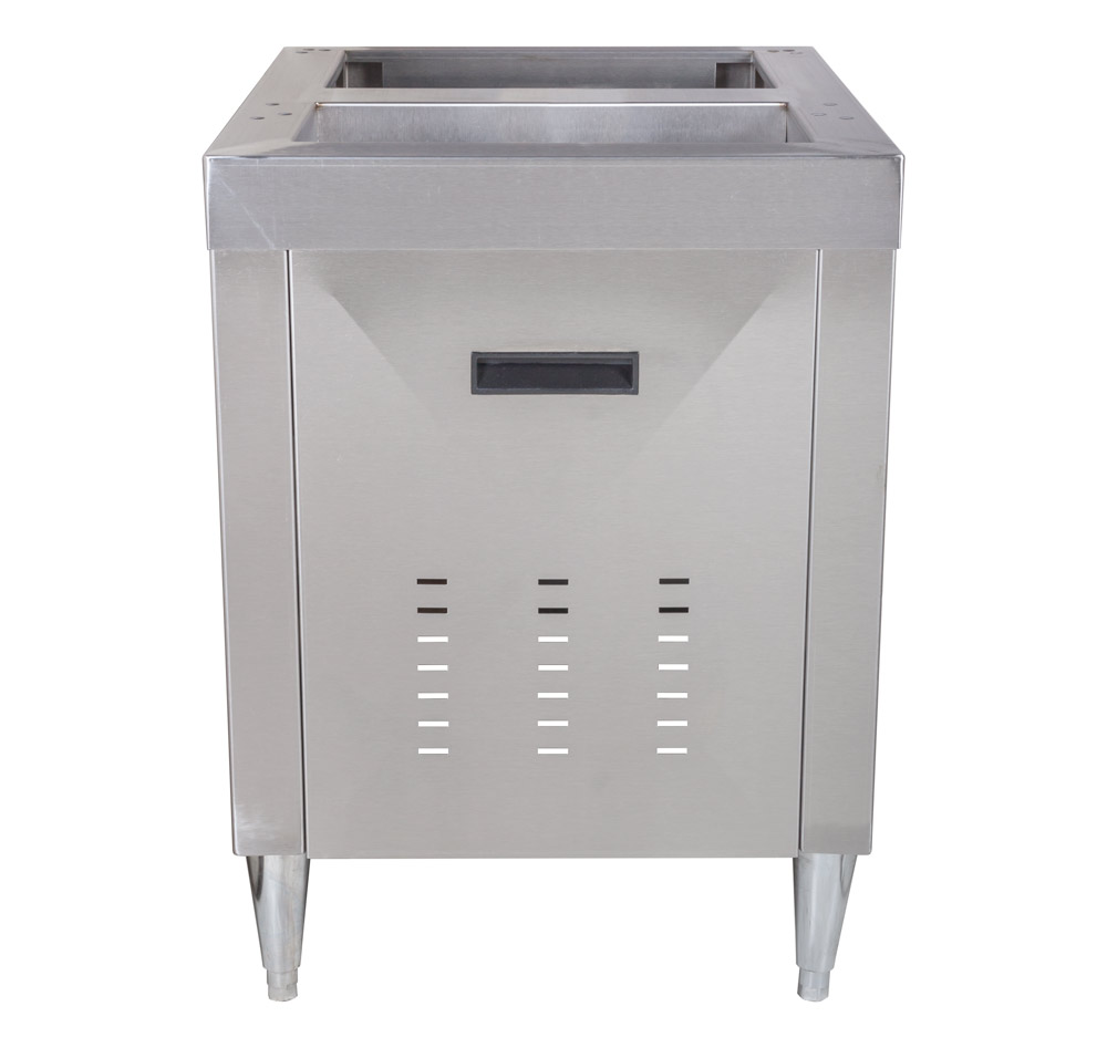 "Stainless Cabinet for 22"" Ice and Beverage Dispenser (front)"
