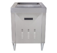 "22"" Stainless Cabinet for Ice Combo Dispenser"