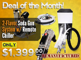 Deal of the Month: 2-Flavor Soda Gun System—$1,399