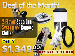 Deal of the Month: 2-Flavor Soda Gun System—$1,349