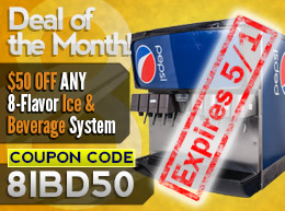 During April, Get $50 OFF All 8-Valve Ice & Beverage Soda Systems—New & Remanufactured with Coupon Code: 8IBD50