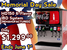Memorial Day Sale - MD150 6-Flavor IBD Soda Fountain System ONLY $1,299.00 - Ends June 1st
