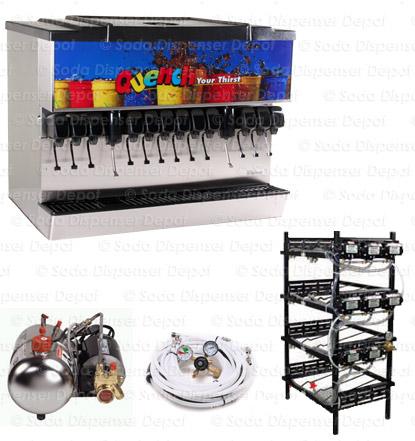 12-valve Soda Fountain System