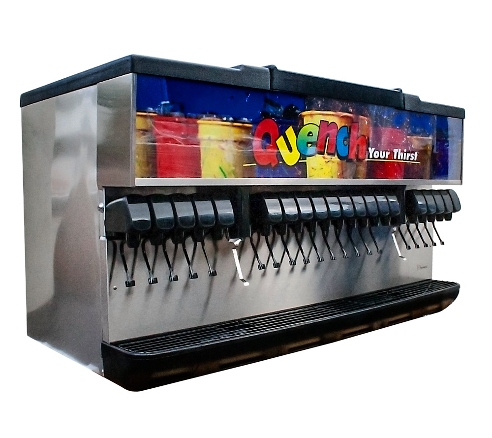 Complete 20-Flavor Ice and Beverage Dispenser System (angle)