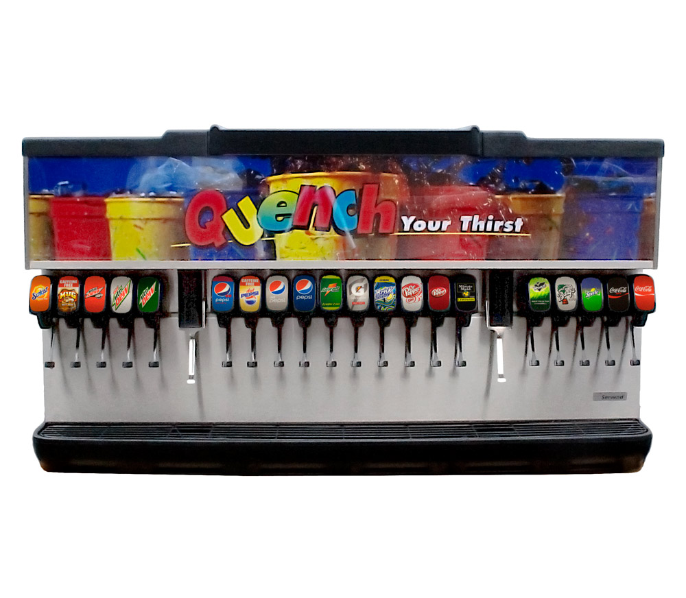 20-Flavor Ice And Beverage Soda Fountain System