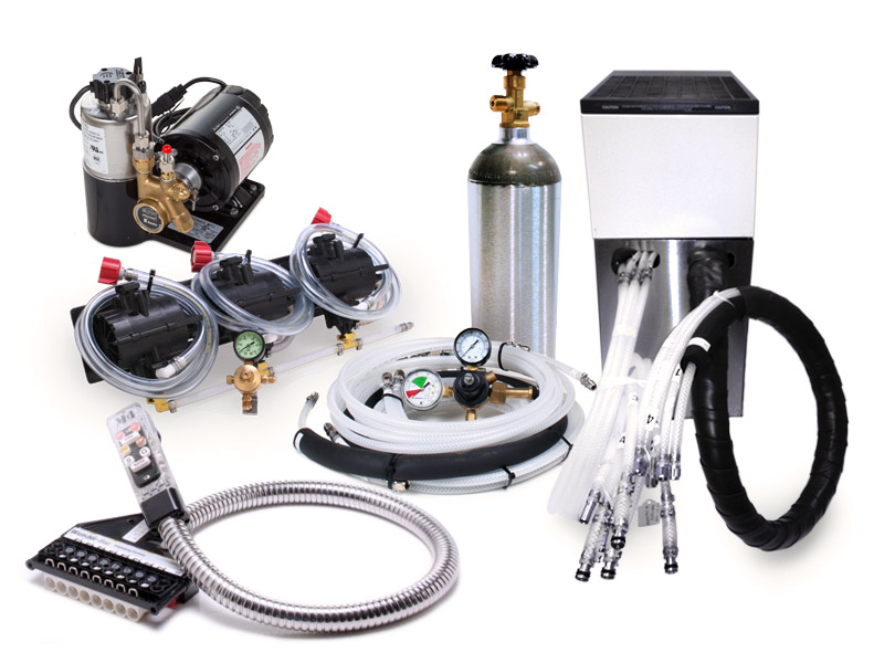 Complete 3-Flavor Soda Gun System with NEW Remote Cooler