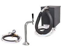 Seltzer Draft Arm (Snake) Soda Fountain System w/ NEW Compact Remote Chiller and NEW Draft Arm