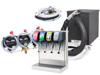 4-Flavor Tower Soda Fountain System w/ NEW Compact Remote Chiller