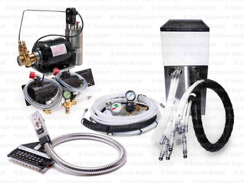 2-Flavor Soda Gun System with NEW Remote Chiller