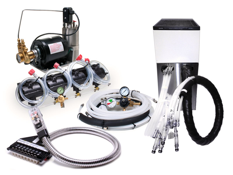 4-Flavor Soda Gun System with NEW Remote Cooler