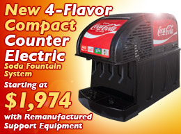 New 4-Flavor Counter Electric Soda Fountain System