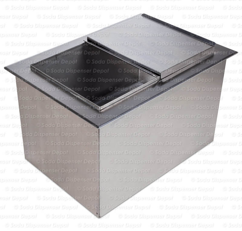 "Ice Bin Cold Plate 15"" x 22"" Drop-in"