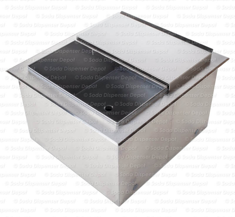"21"" x 23"" 7 Circuit Ice Bin Cold Plate (Drop-in)"