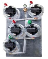 Five (5) Syrup Pumps w/ Secondary Regulator