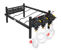"Double Rack with 3 SHURflo Syrup Pumps 27"" W x 19"" D x 12"" H"