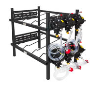 "2 Double Racks with 6 SHURflo Syrup Pumps and Secondary Regulator 27"" W x 19"" D x 36"" H"
