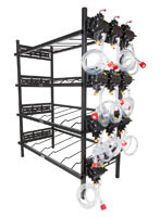 "4 Triple Racks with 10 SHURflo Syrup Pumps and Secondary Regulator 39"" W x 19"" D x 76"" H"