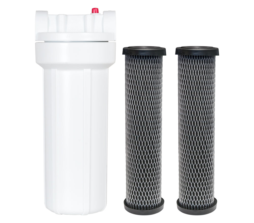 Water Filter with 2 Replaceable Cartridges