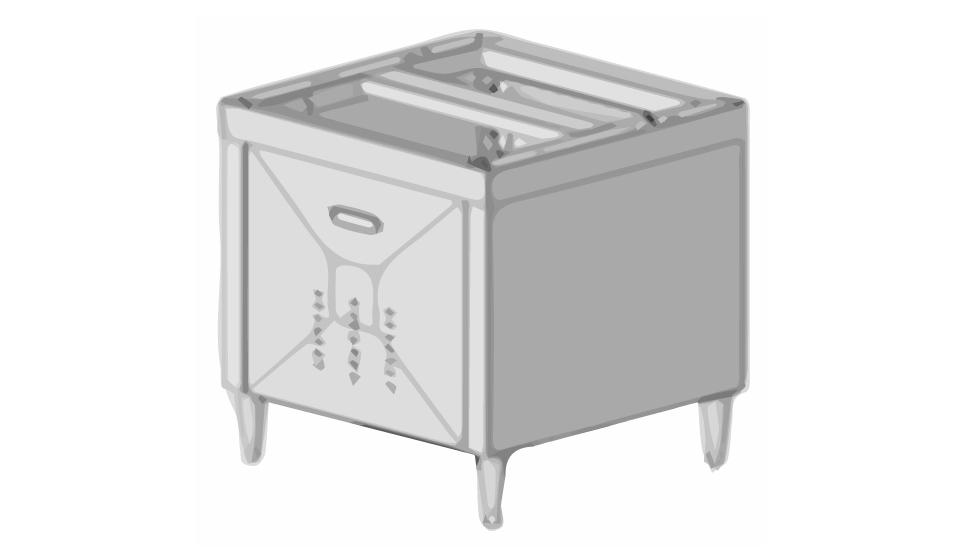30-inch Stainless Cabinet for Ice Combo Dispenser