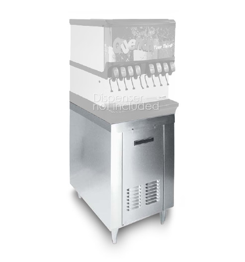 "Stainless Cabinet for 22"" Ice and Beverage Dispenser (demo)"