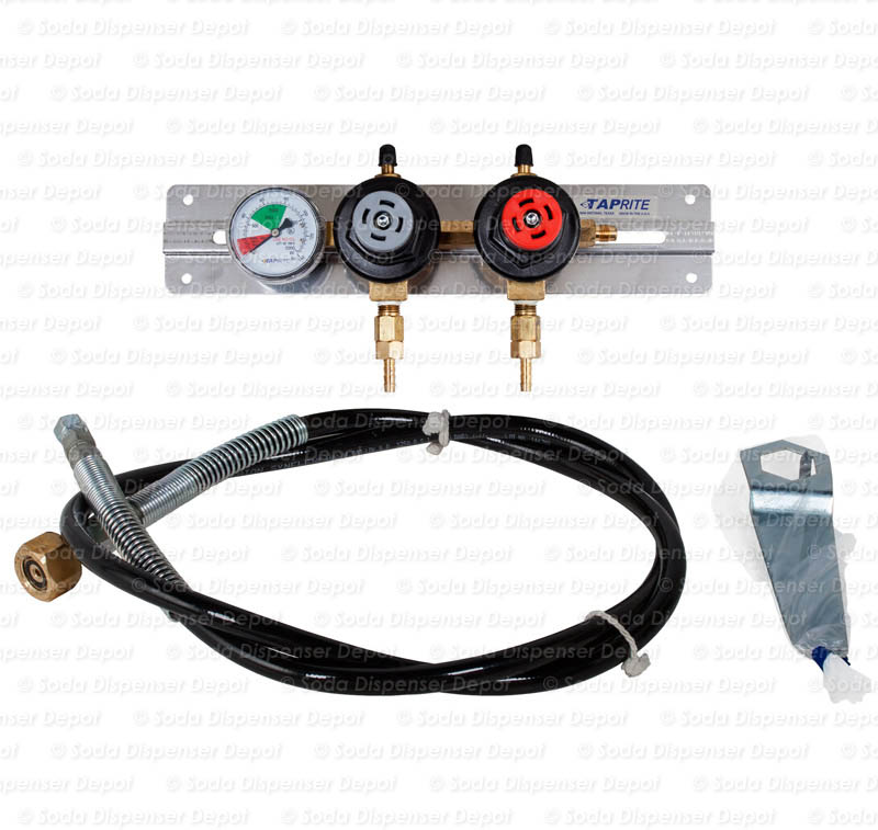 TAPRITE Preset CO2 Regulator with High Pressure Flex Hose and CO2 Wrench
