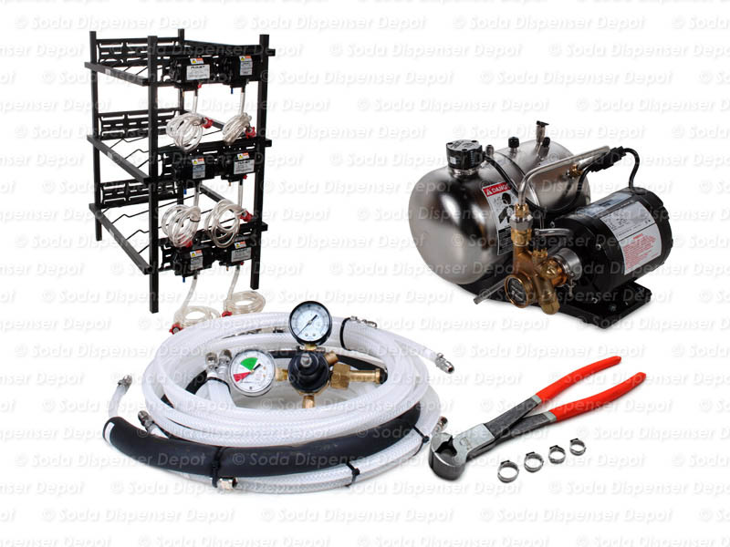 6-Flavor Support Equipment Package w/ Syrup Racks (no cooling device included)