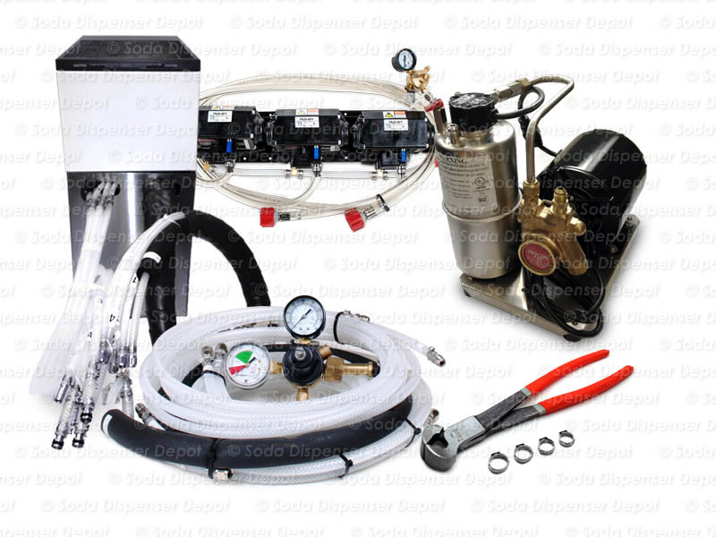 3-Flavor Support Equipment Package w/ Remote Chiller