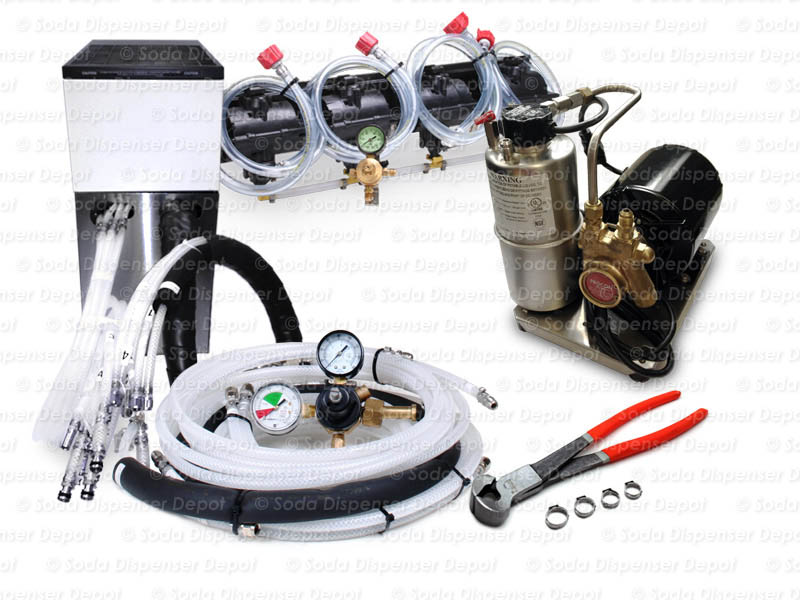 4-Flavor Support Equipment Package w/ Remote Chiller