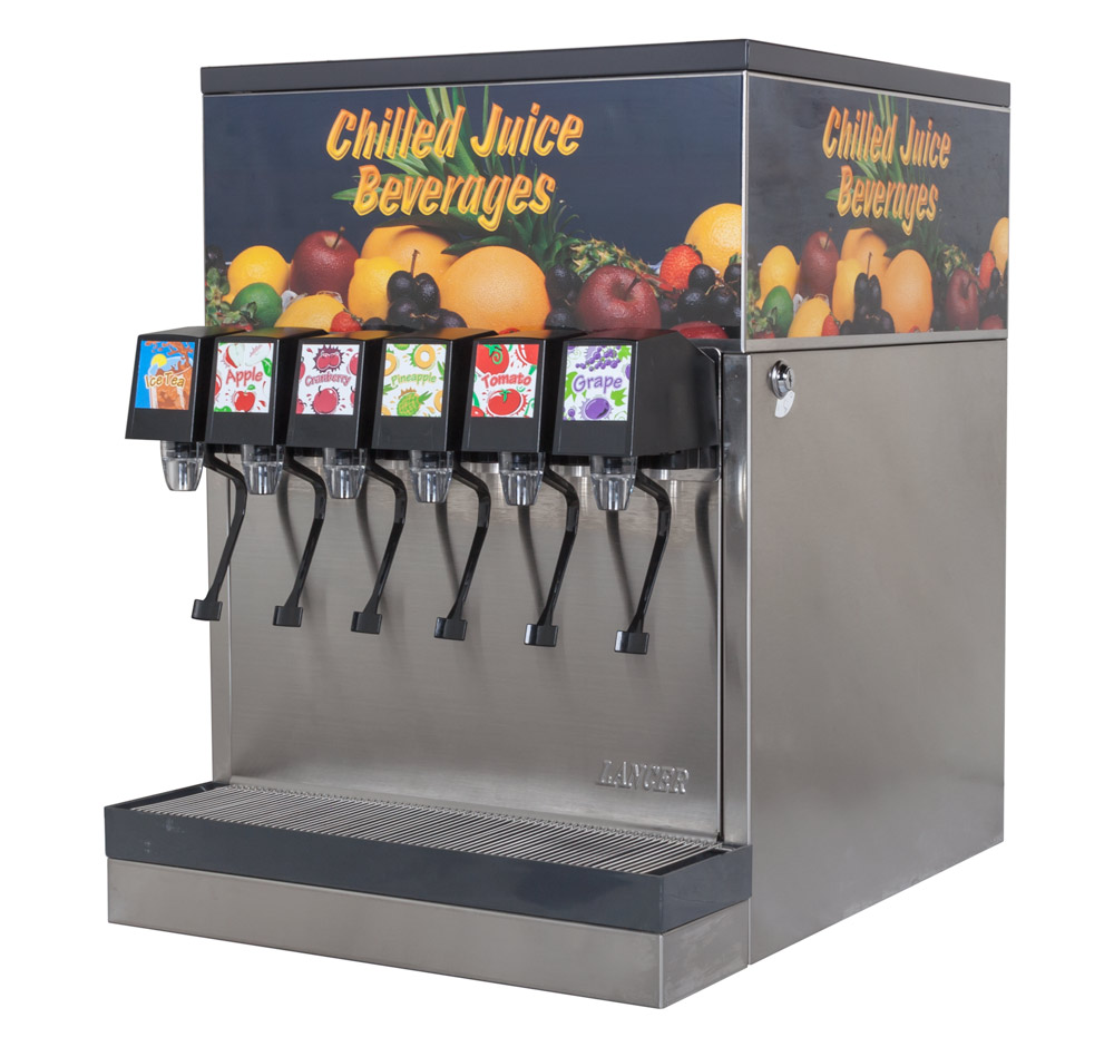 6-Flavor Counter Electric Juice Fountain System