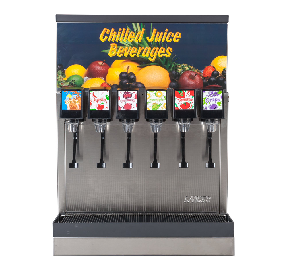 6-Flavor Counter Electric Juice Fountain System (front)