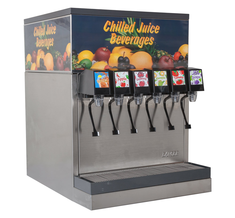 6-Flavor Counter Electric Juice Fountain System (angle)
