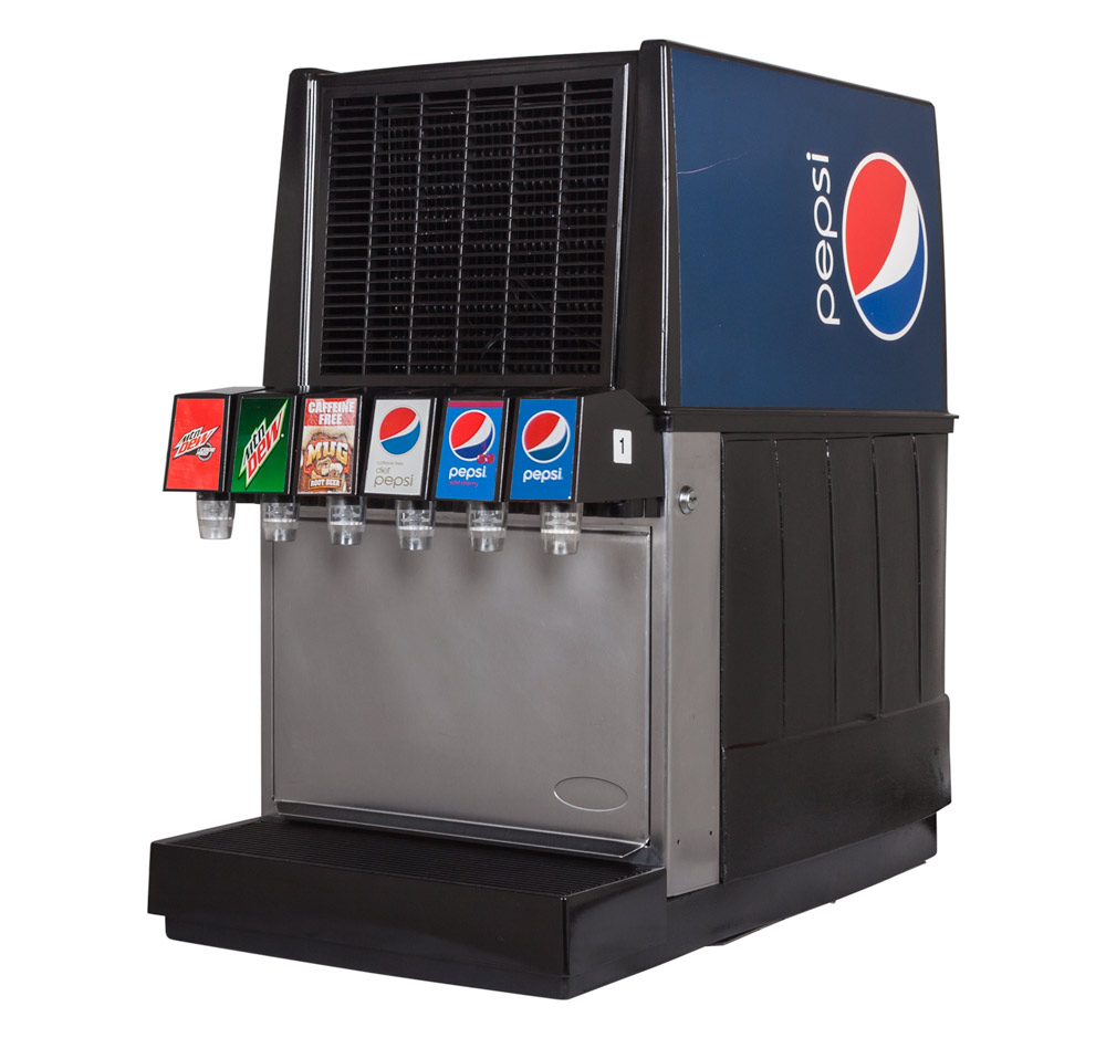 6-Flavor Counter Electric Soda Fountain System (angle)