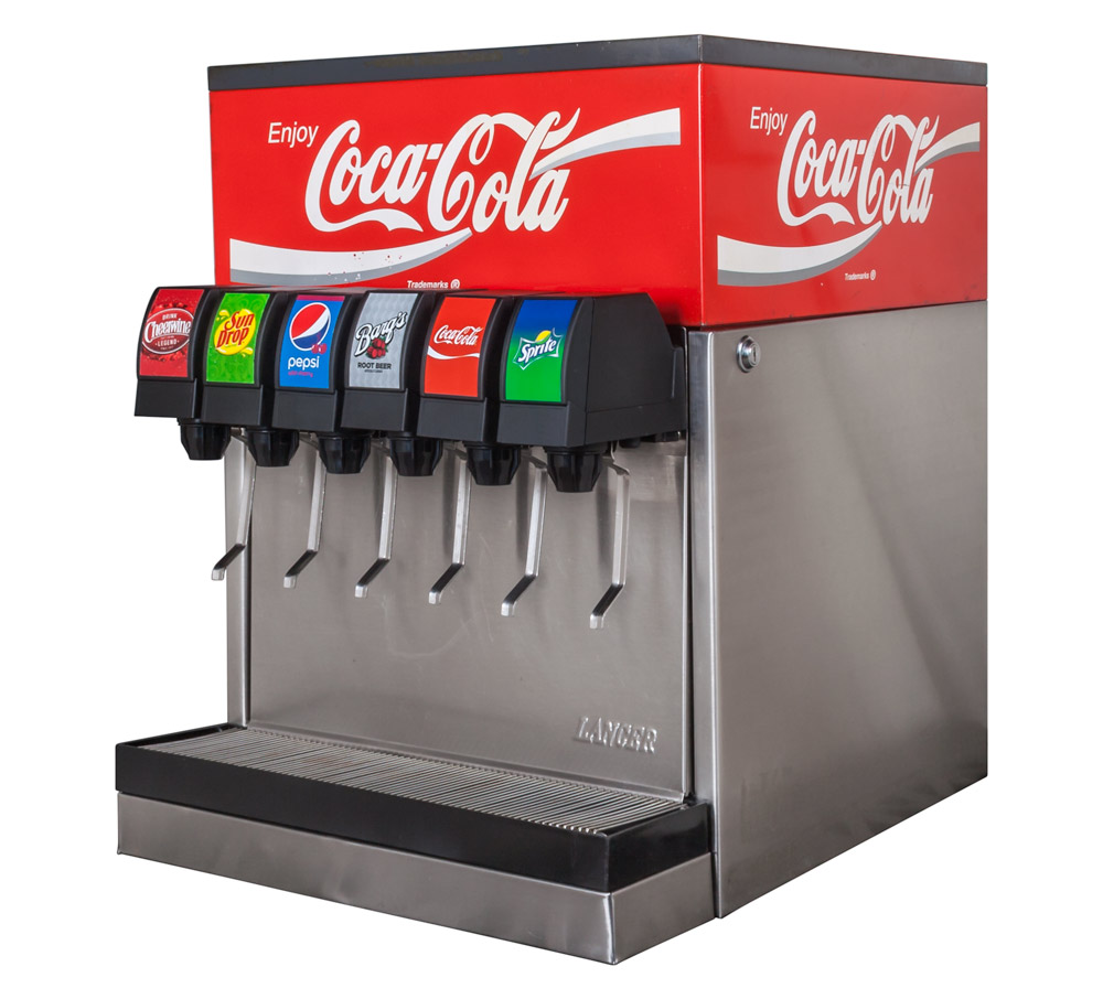 6-Flavor Scratch and Dent Counter Electric Soda Fountain System