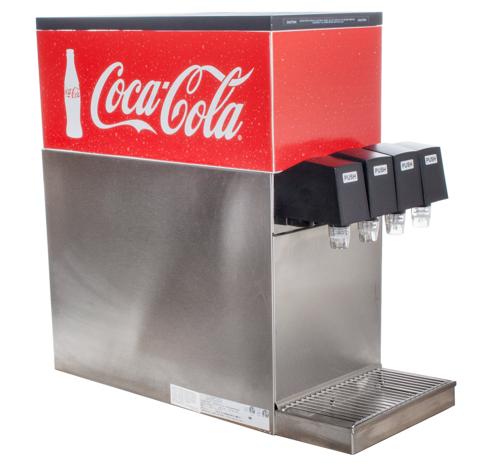4-Flavor Counter Electric Soda Fountain System (angle)