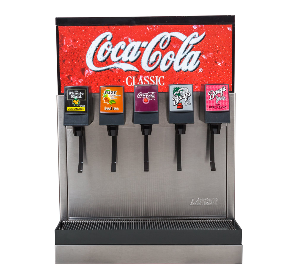 5-Flavor Counter Electric Soda Fountain System (front)