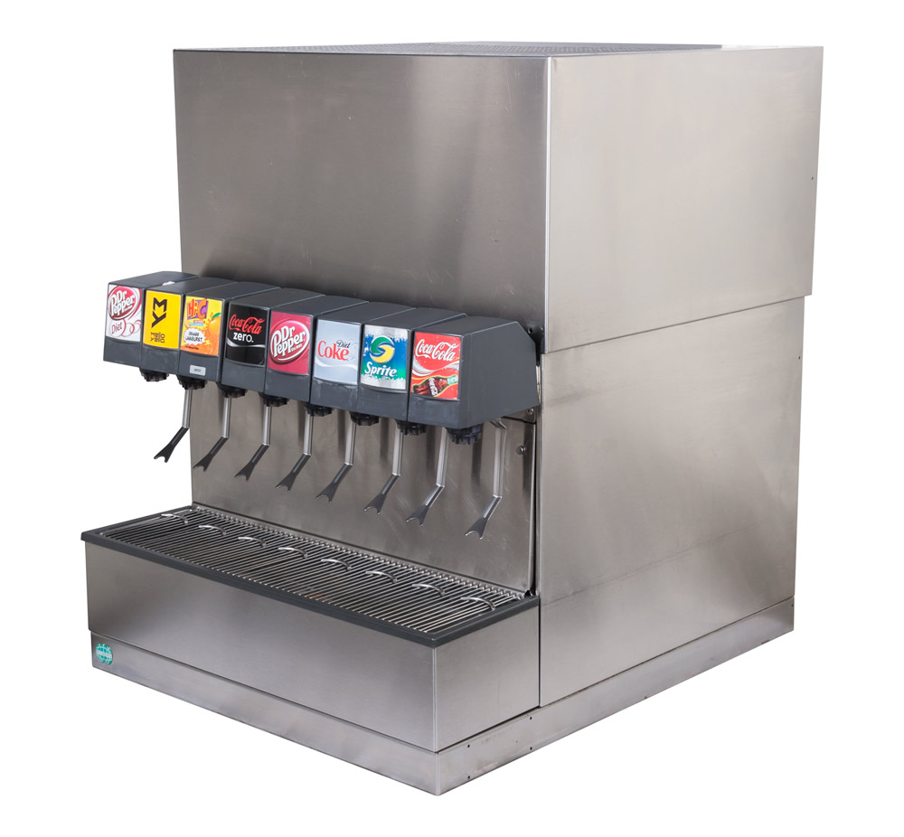 8-Flavor Counter Electric Soda Fountain System