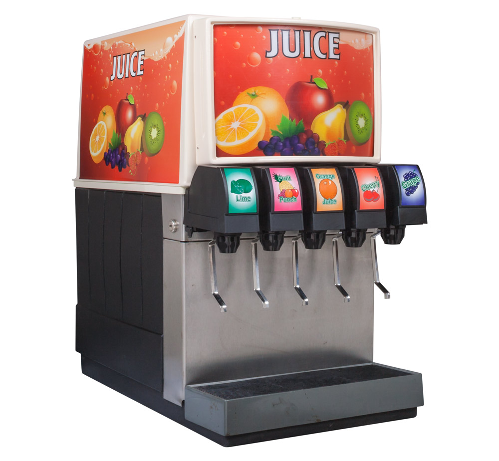 5-Flavor Counter Electric Soda Fountain System (angle)