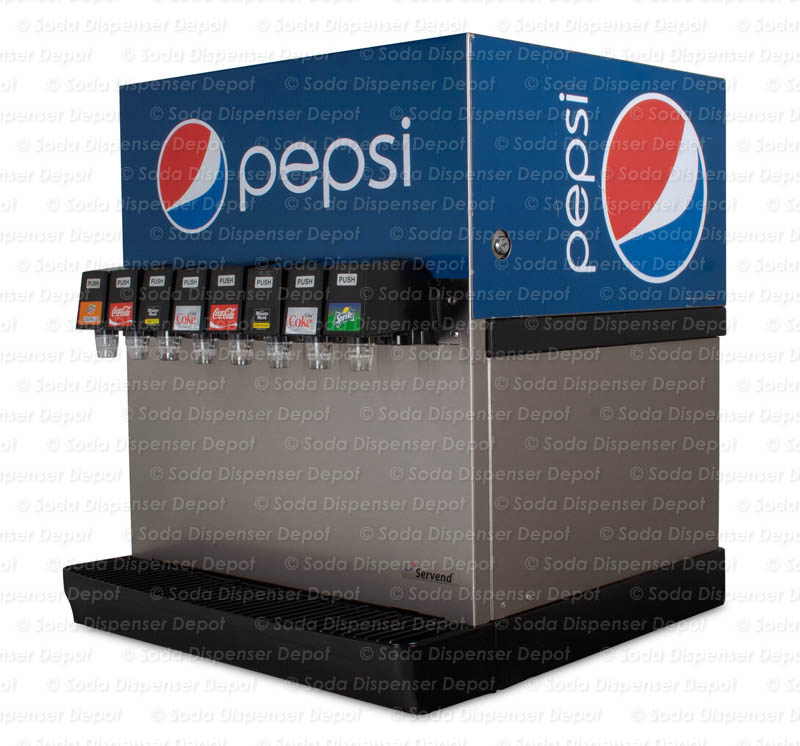 8-Flavor Counter Electric Soda Fountain System (angle)