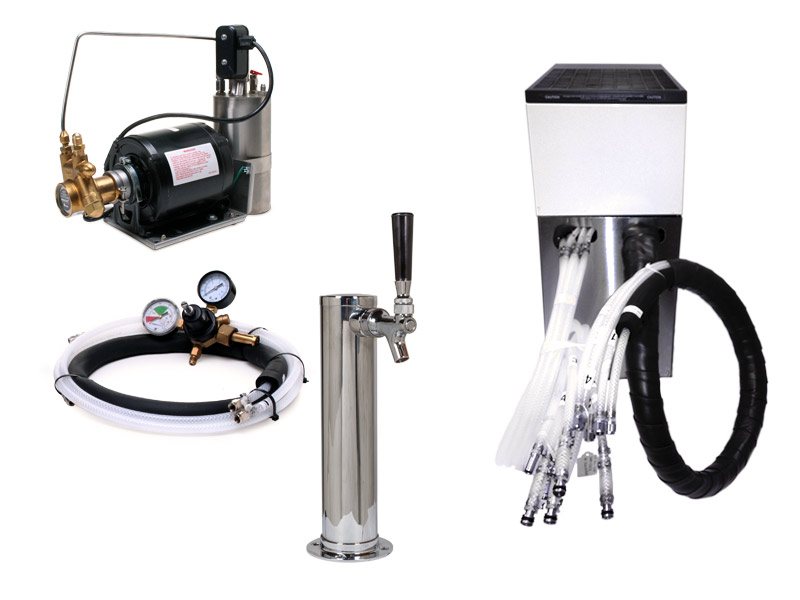 Complete Seltzer Draft Arm (Cylinder) System w/ Remote