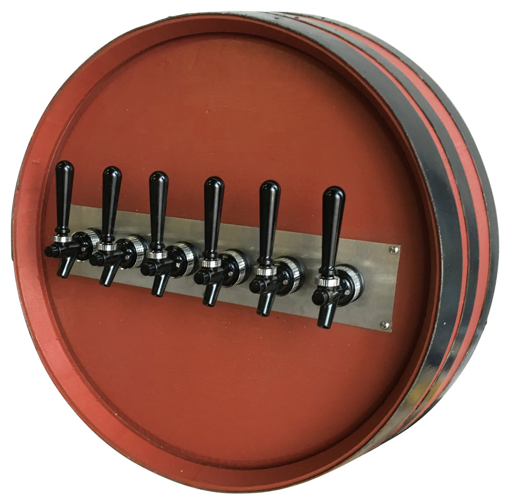 6-Flavor Wall-Mount Draft Arm Barrel (angle)