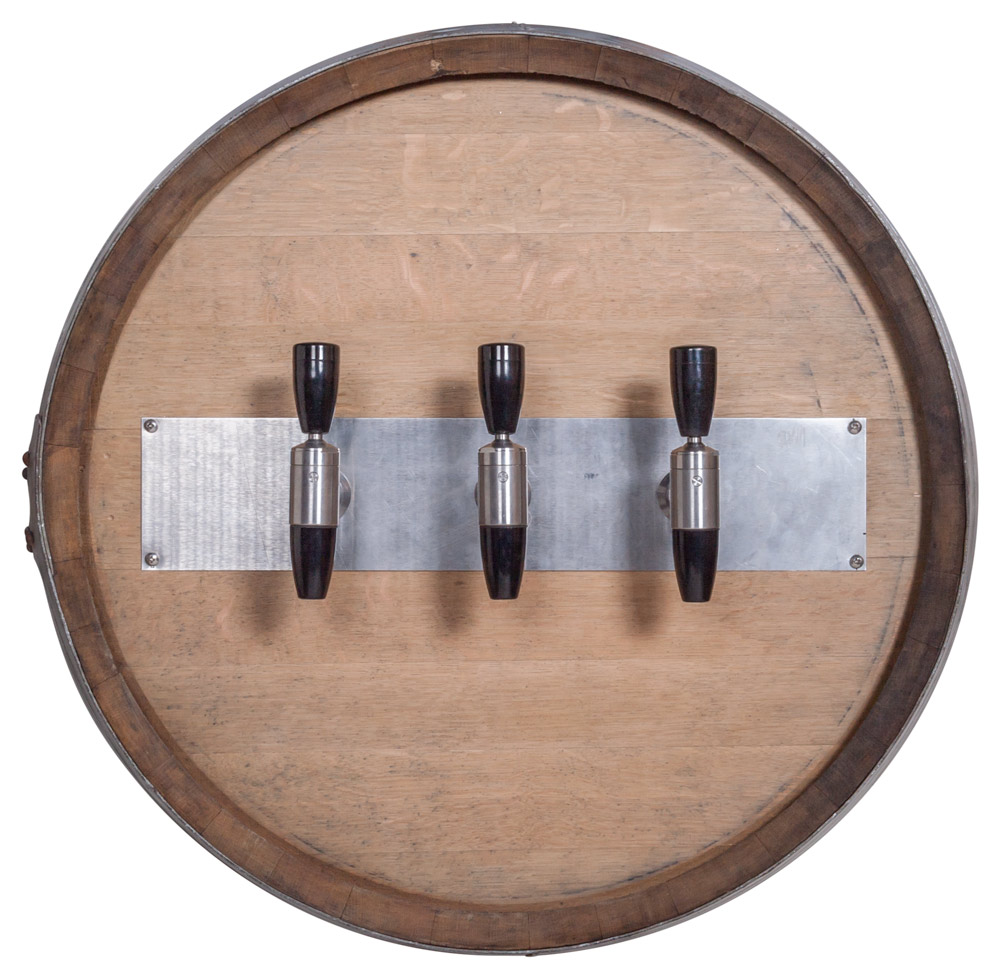 3-Flavor Rustic Barrel Draft Arm (front)
