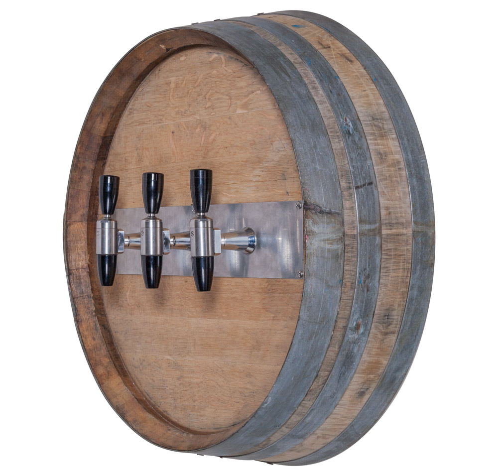 3-Flavor Rustic Barrel Draft Arm (angle)